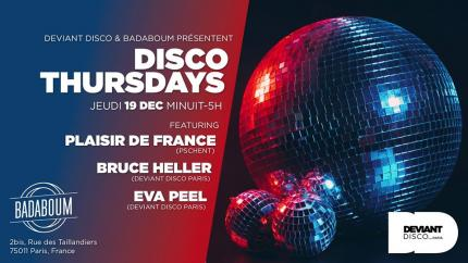 Deviant Disco Paris‎Disco Thursday #1 - Plaisir De France - Deviant Disco